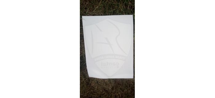 Sticker pare-brise arrière blanc