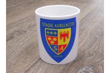 Mug logo retro bleu