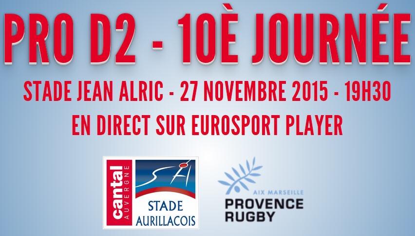 J10 : SA – Provence Rugby