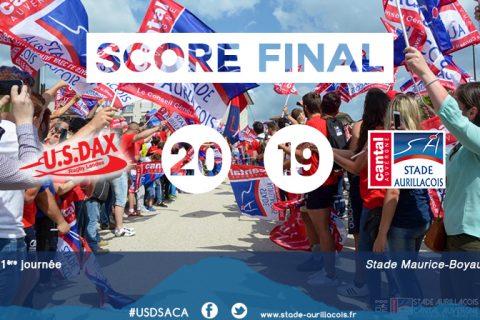 J01 : score et résumé Dax – SA