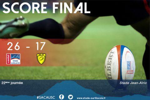 Aurillac 26 – Carcassonne 17