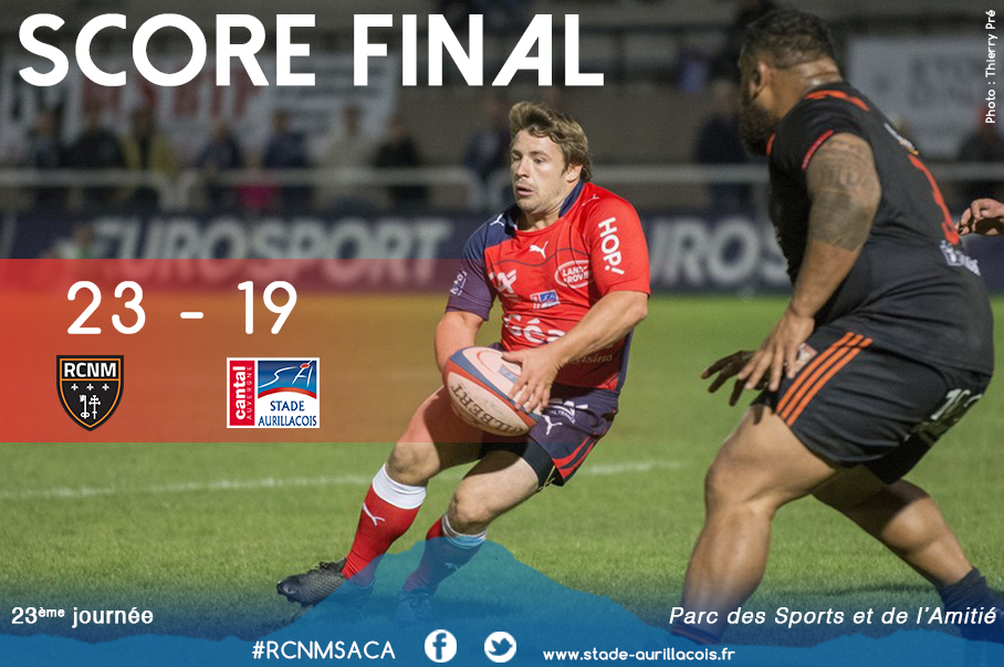 Narbonne 23 – Aurillac 19