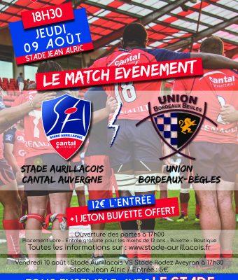 Match amical Aurillac/ Union Bordeaux-Bègles