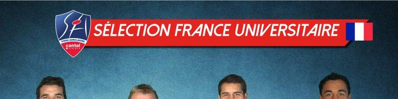 Sélectionnés pour jouer en France universitaire (match retour)