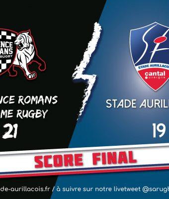 Match SA / Valence Romans – Défaite