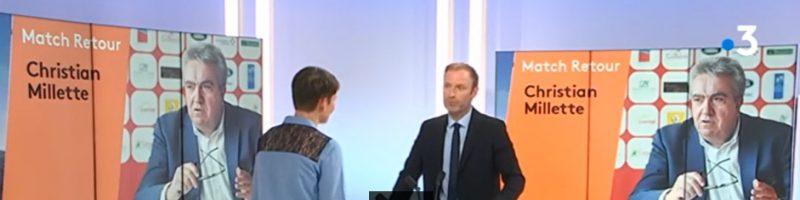 Christian Millette sur France 3