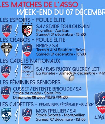 Les matches de l'association