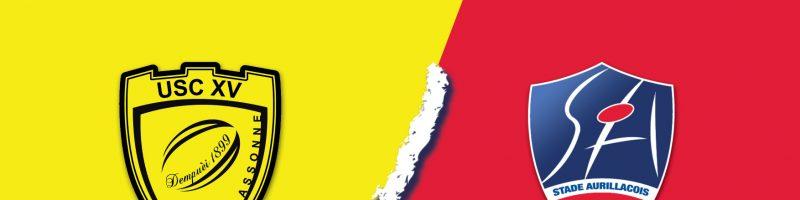 Match US Carcassonne / SA – Défaite