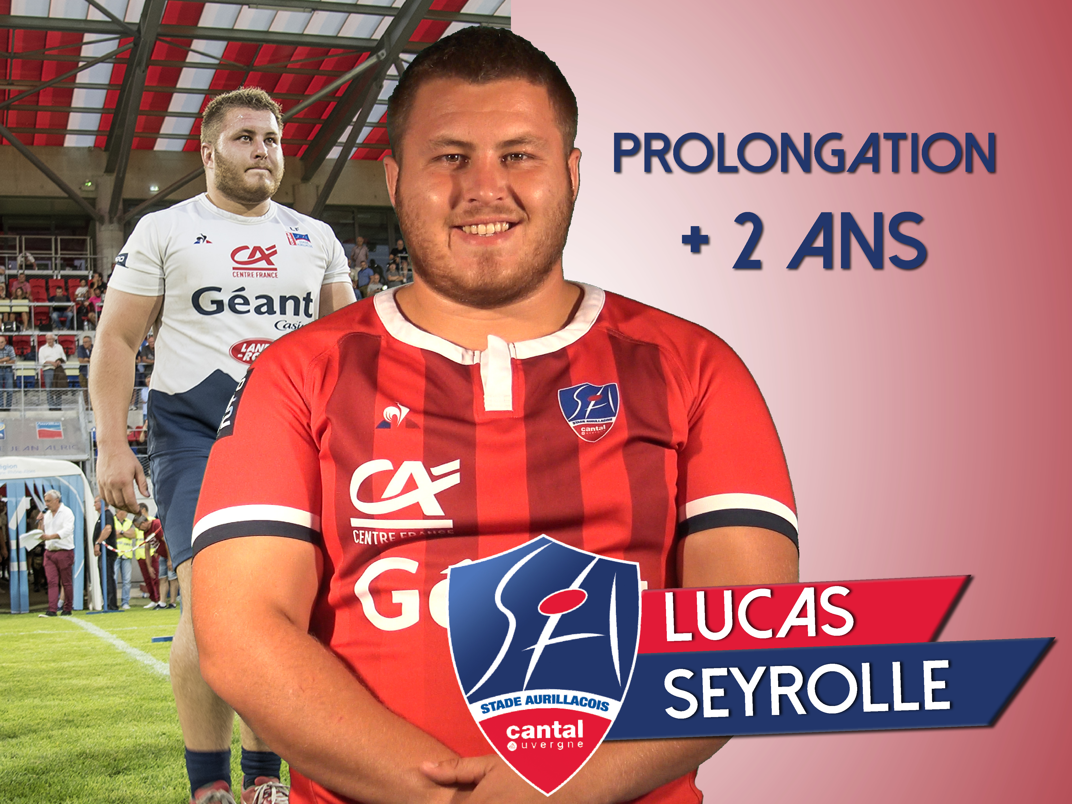 Prolongation de Lucas Seyrolle – Stade Aurillacois Cantal Auvergne