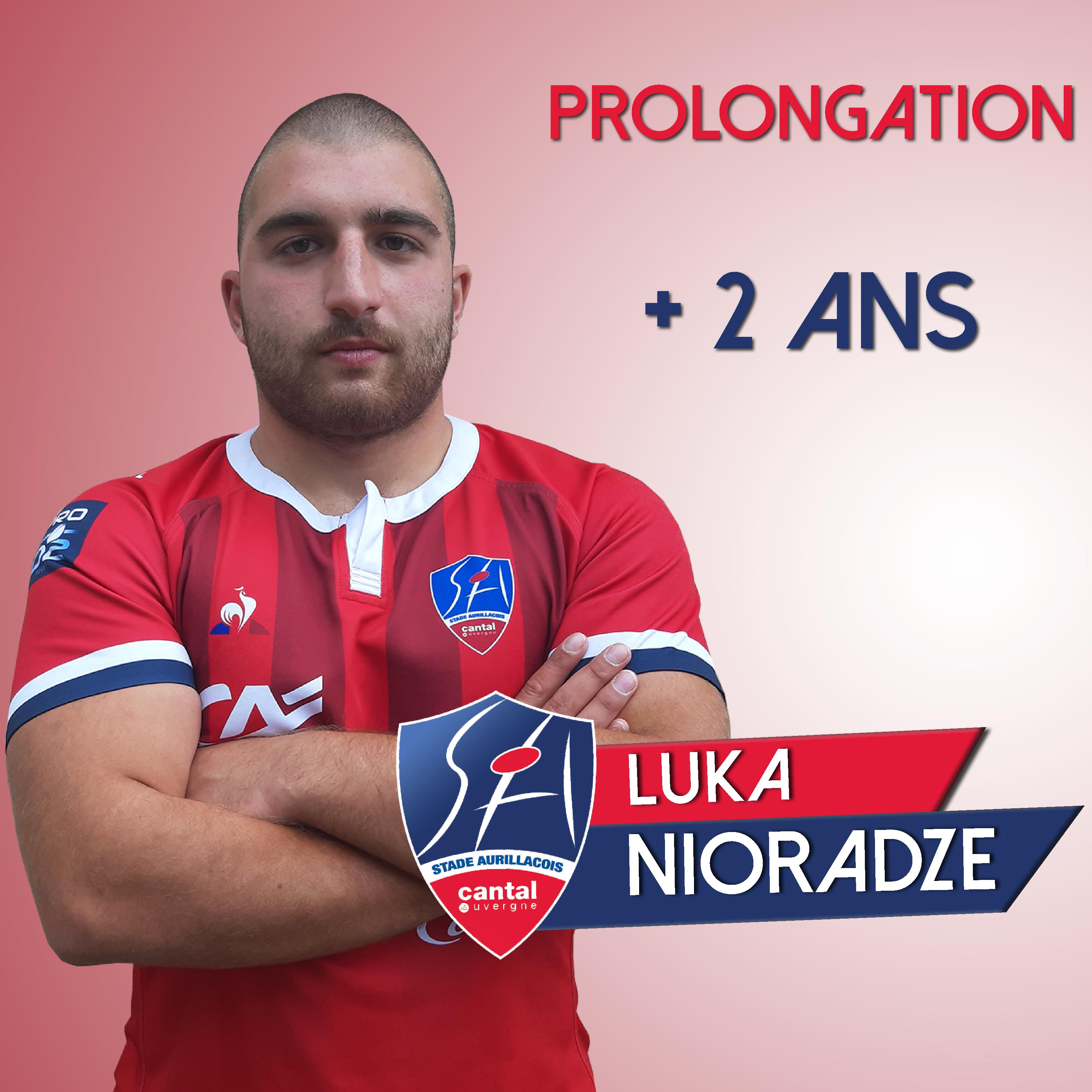Prolongation de Luka Nioradze – Stade Aurillacois Cantal Auvergne