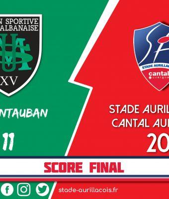 Victoire du Stade Aurillacois face à Montauban !