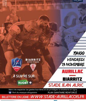 Match Stade Aurillacois / Biarritz Olympique