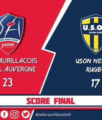 Le match Aurillac / Nevers – Victoire