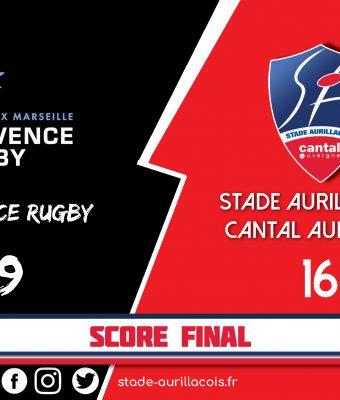 Match Aix en Provence / Aurillac : Défaite