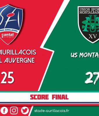Défaite du Stade Aurillacois face à Montauban