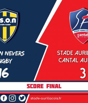 Défaite du Stade Aurillacois face à Nevers