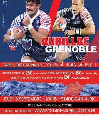 Billetterie ouverte : Aurillac / Grenoble