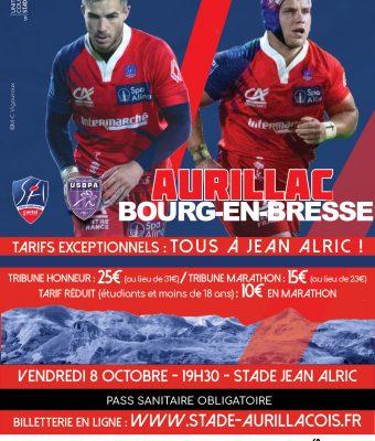 Aurillac / Bourg-en-Bresse