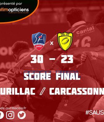 Victoire du Stade face à Carcassonne