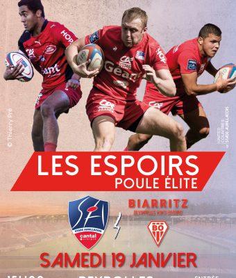 Match Espoirs Aurillac / Biarritz