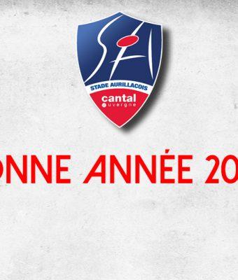 Le Stade Aurillacois vous souhaite ses meilleurs voeux