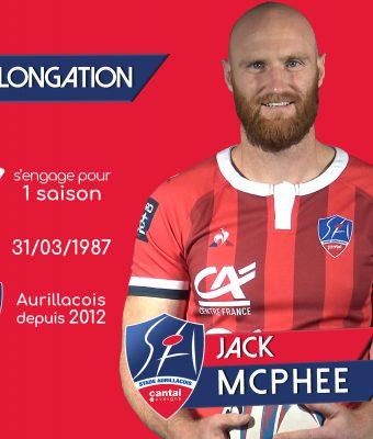 Jack Mcphee prolonge d'une année supplémentaire