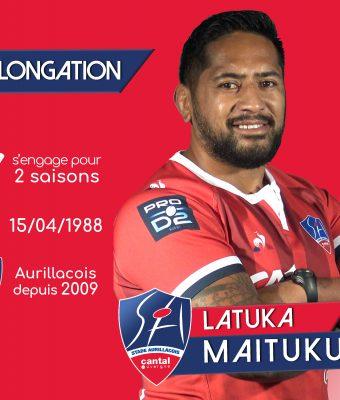 Latuka Maituku et le Stade Aurillacois : la belle histoire continue.