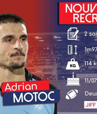 Adrian Motoc, nouvelle recrue Aurillacoise