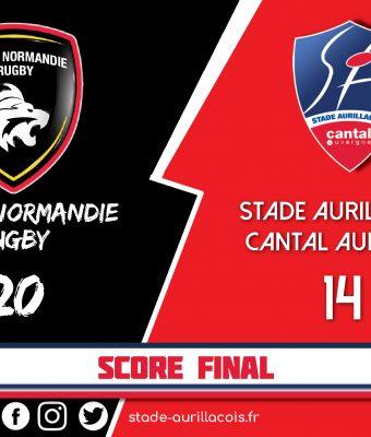 Défaite pour le Stade Aurillacois à Rouen : 20 – 14